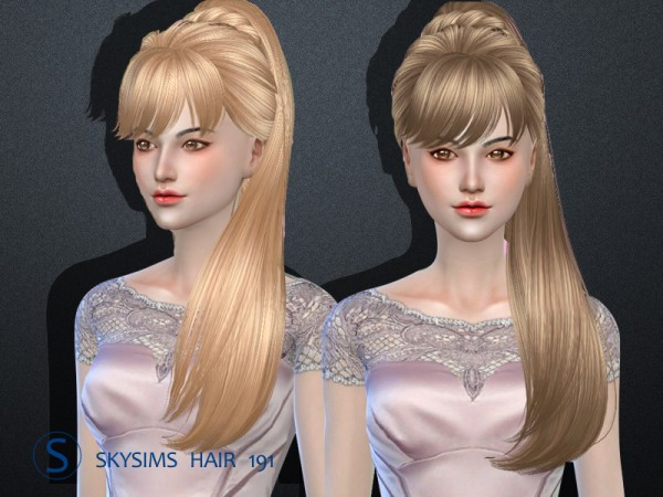Butterflysims: Hair 191 by Skysims for Sims 4