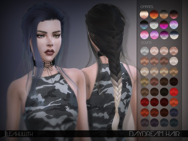 The Sims Resource: Daydream Hair by LeahLillith for Sims 4