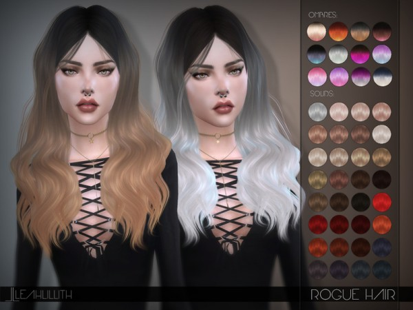 The Sims Resource: Rogue Hair by Leah Lillith for Sims 4