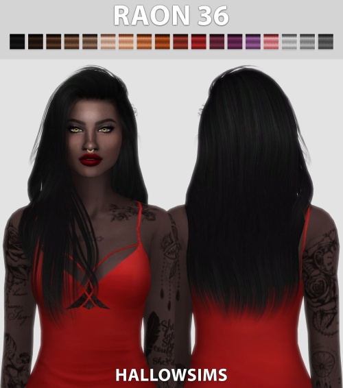 Hallow Sims: Raon 36 hair retextured for Sims 4