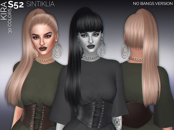The Sims Resource: Hair s52 Kira no bangs by Sintiklia for Sims 4