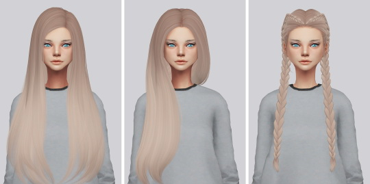 Kalewa a: Hallow`s hair retextured Pack2 for Sims 4