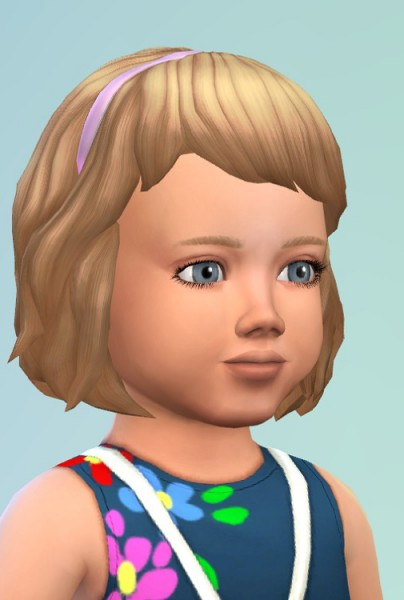 Birksches sims blog: Hair with Band for toddlers for Sims 4