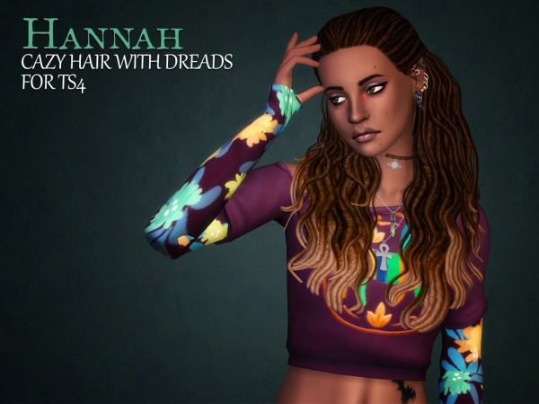 The path of never more: Cazy's Hannah hairs retextured for Sims 4