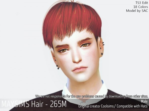 MAY Sims: May 265M hair retextured for Sims 4