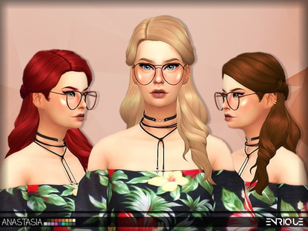 Enrique: Anastasia Hair for Sims 4