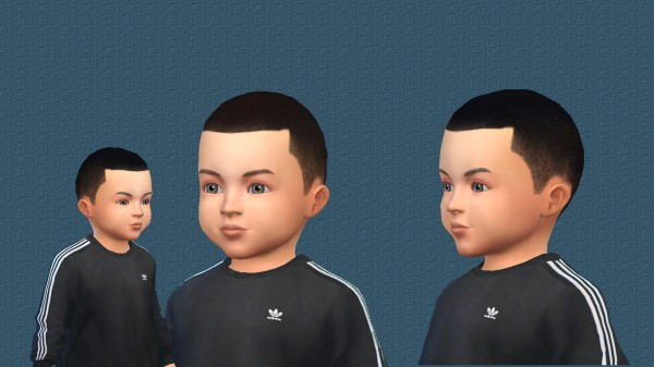 Simsworkshop: Very short almost bald haircut for toddlers for Sims 4