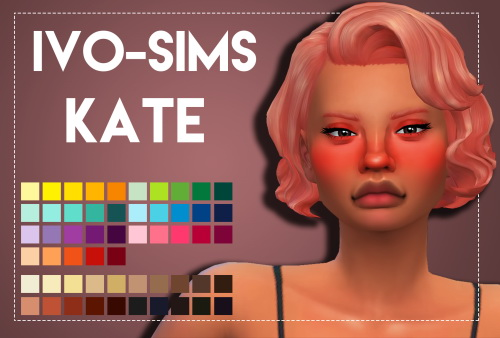 Weepingsimmer: Kate hair recolored for Sims 4
