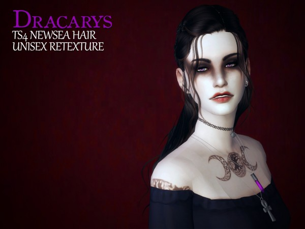 The path of never more: Newsea's Dracarys hair retextured for Sims 4