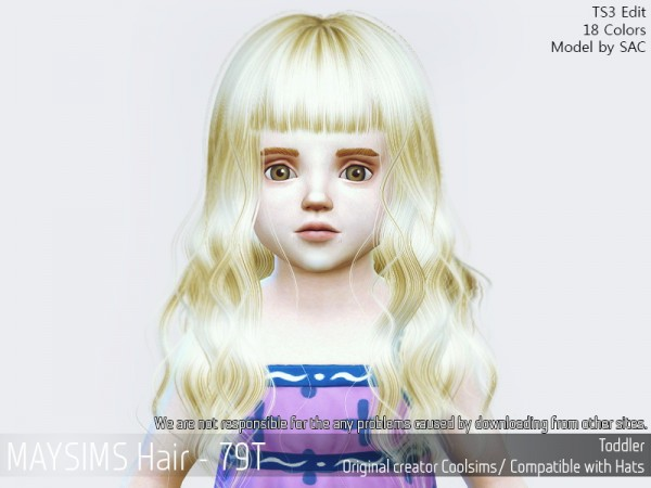 MAY Sims: May 79T hair retextured for Sims 4