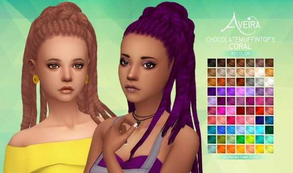 Aveira Sims 4: Chocolatemuffintop's Coral   Recolor for Sims 4