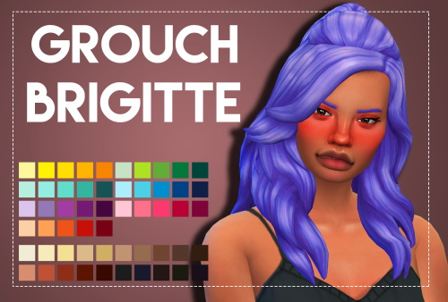 Weepingsimmer: Grouchy's Brigitte hair recolored for Sims 4