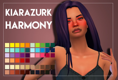 Weepingsimmer: Kiarazurk's Harmony hair recolored for Sims 4