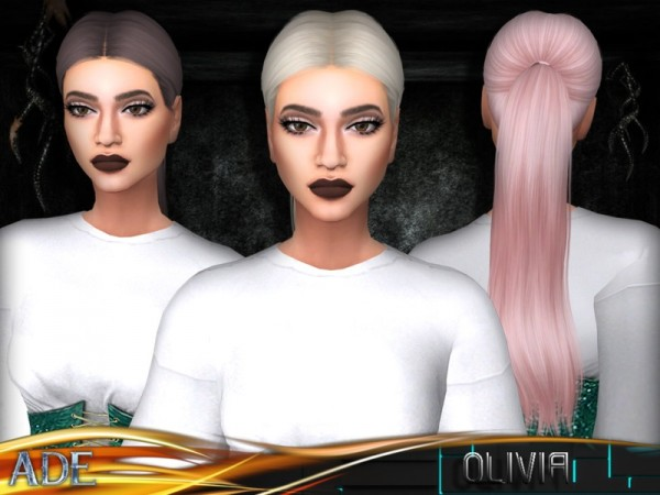 The Sims Resource: Olivia hair by Ade Darma for Sims 4