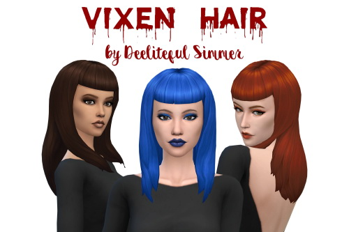 Deelitefulsimmer: Vixen hair for Sims 4