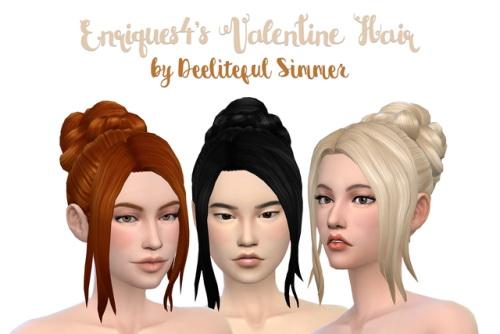 Deelitefulsimmer: Enrique`s Valentine hair retextured for Sims 4