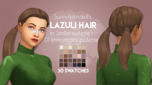 Stargirl Sims: Lazuli Hair Recolor for Sims 4