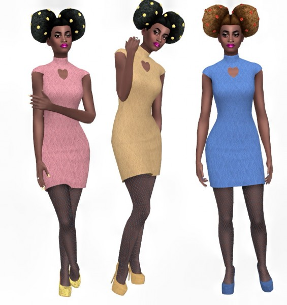 Sims Fun Stuff: Grimcookie`s Bryce Large Buns hair retextured for Sims 4