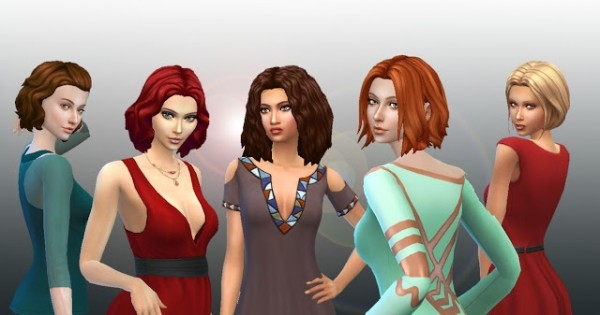 Mystufforigin: Medium Hair Pack 4 for Sims 4