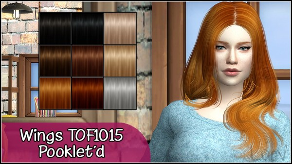 Mertiuza: Wings 1015 hair retextured for Sims 4