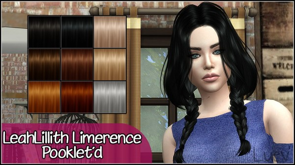 Mertiuza: LeahLillith`s Limerence hair retextured for Sims 4