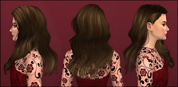 Mertiuza: Wings OS0203 hair retextured for Sims 4