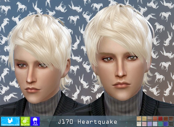NewSea: J170 Heartquake hair for him for Sims 4