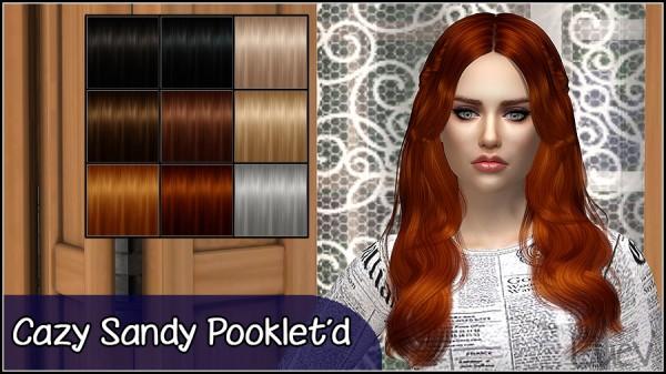 Mertiuza: Cazy`s Sandy hair retextured for Sims 4