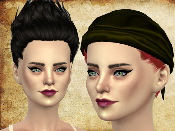 The Sims Resource: Canonball hair by neissy for Sims 4