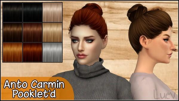 Mertiuza: Anto`s Carmin hair retextured for Sims 4