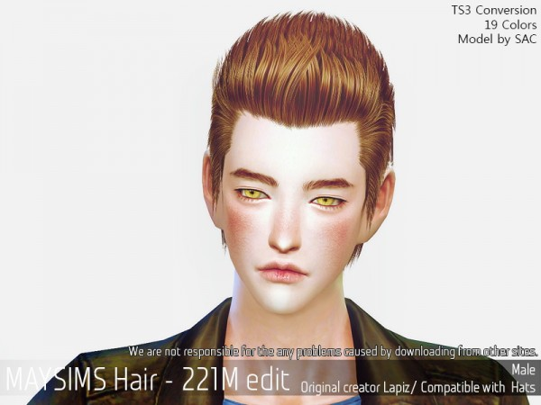 MAY Sims: May 221M hair retextured for Sims 4