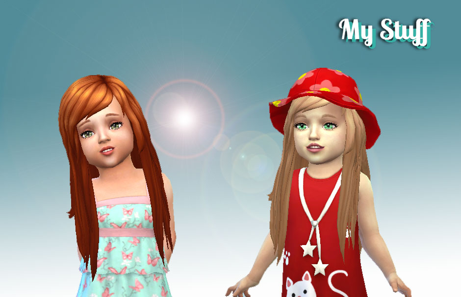 Sims 4 Hairs Mystufforigin Cute Hairstyle For Toddlers