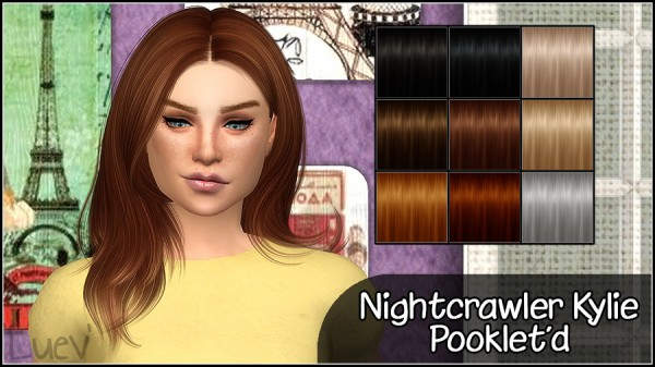 Mertiuza: Nightcrawler's Kylie hair retextured for Sims 4