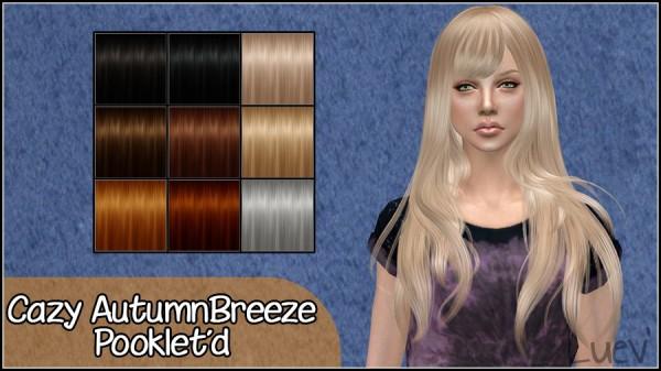 Mertiuza: Cazy`s Autumn Breeze Hair Retextured for Sims 4