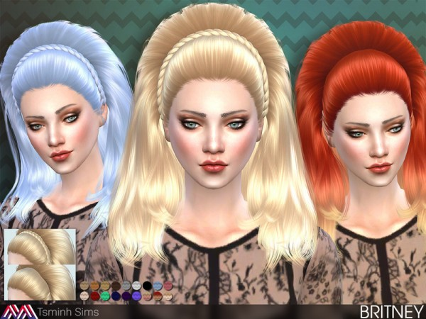 The Sims Resource: Britney hair by TsmnihSims for Sims 4