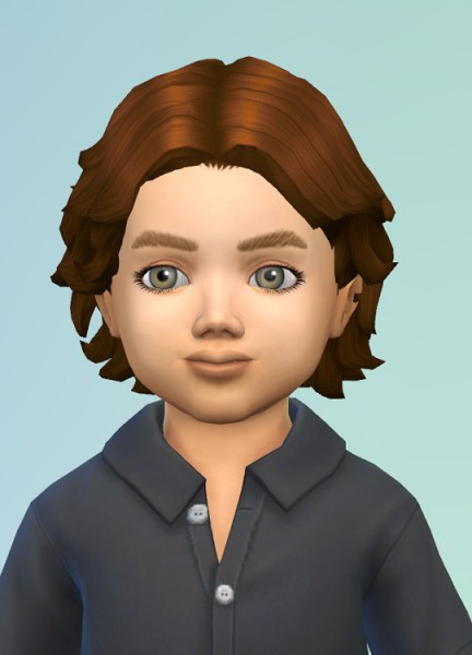 Birksches sims blog: Curly Spreads hair for toddlers for Sims 4