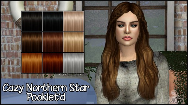 Mertiuza: Cazy`s Northern Star hair retextured for Sims 4