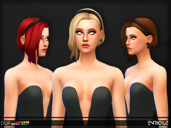 The Sims Resource: Enrique`s Dua Hair retextured by Jruvv for Sims 4