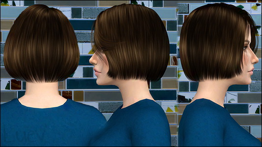 Mertiuza: S club`s Lilly hair retextured for Sims 4
