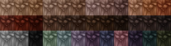 Miss Bunny Gummy: Astral Hair Recolored for Sims 4