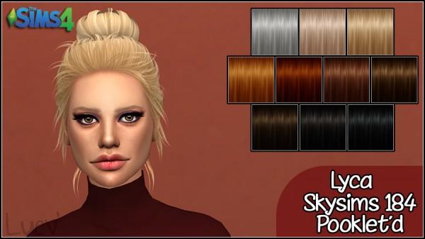 Mertiuza: Skysims 184 Lyca hair retextured for Sims 4