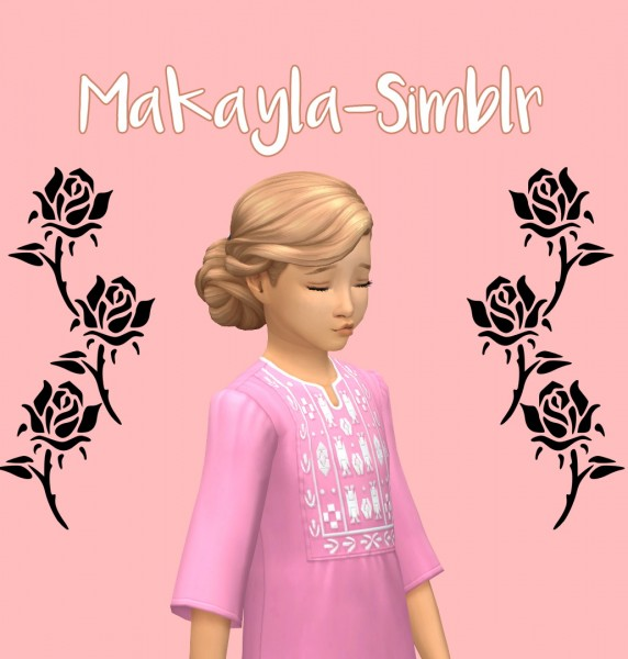 Makayla: Rose`s hair retextured for Sims 4