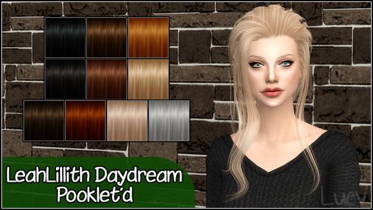 Mertiuza: LeahLillith`s Daydream hair retextured for Sims 4