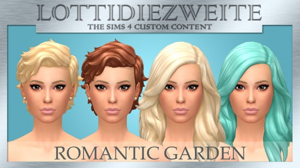 Simsworkshop: Romantic Garden hair recoloured by lottidiezweite for Sims 4