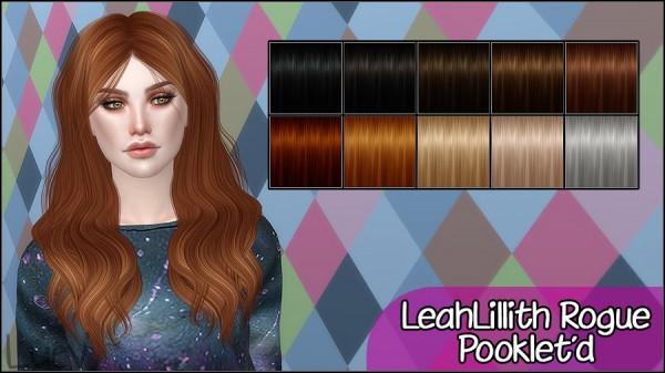Mertiuza: LeahLillith`s Rogue hair retextured for Sims 4