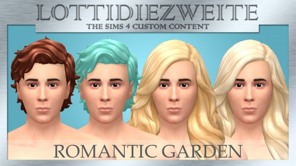 Simsworkshop: Romantic Garden hair recoloured for him by lottidiezweite for Sims 4