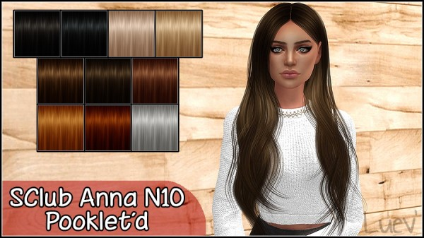 Mertiuza: S`Club`s Anna N10 hair retextured for Sims 4