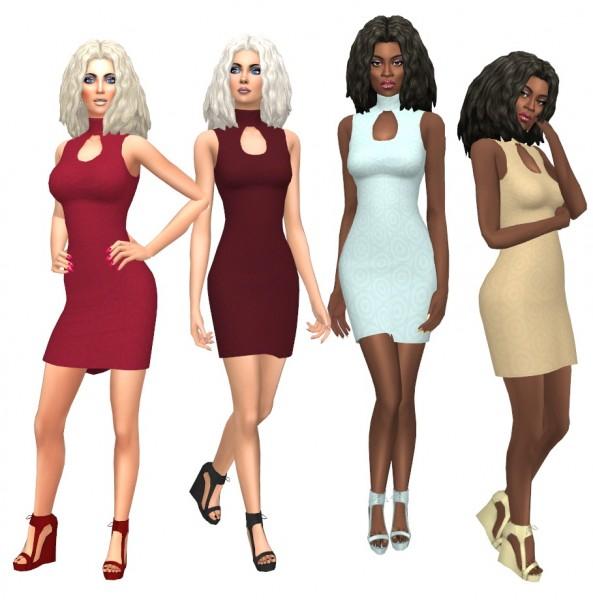 Sims Fun Stuff: Kiara Zurk Melodic Waves hair retextured for Sims 4
