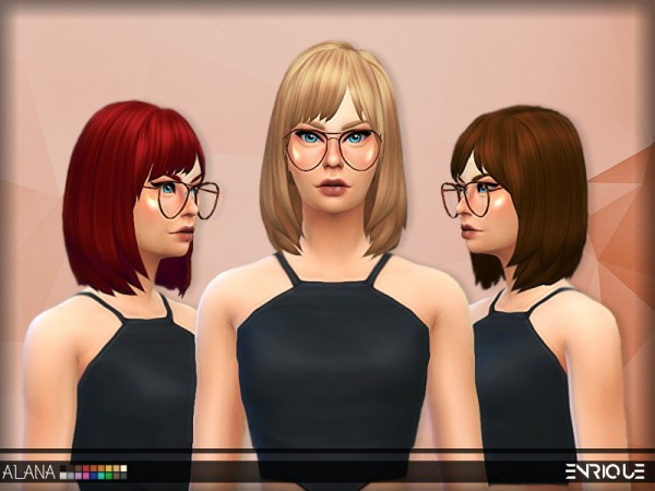 Enrique: Alana Hair for Sims 4