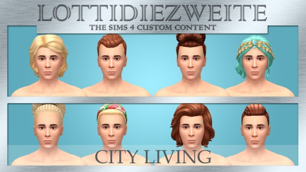 Simsworkshop: City Living hair recoloured for him by lottidiezweite for Sims 4